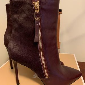 Ox blood , MK heeled booties